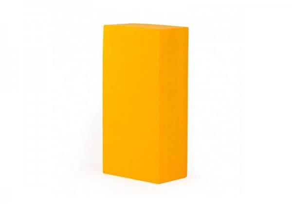 Кирпич для йоги Asana Bodhi жёлтый.