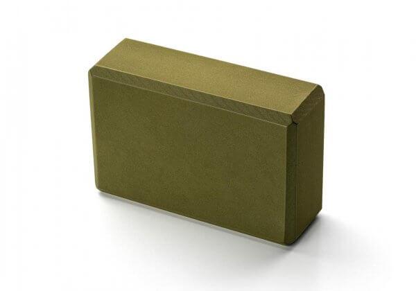 Кирпич для йоги Kurma Standard зелёный.