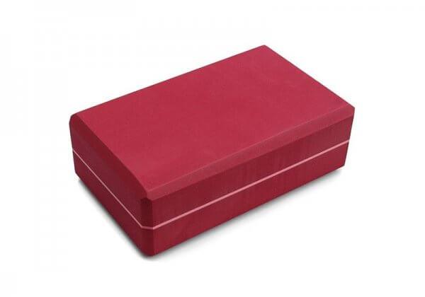 Кирпич для йоги Kurma Striped красный.