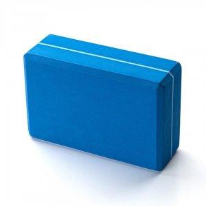Кирпич для йоги Kurma Striped синий.