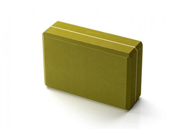 Кирпич для йоги Kurma Striped зелёный.