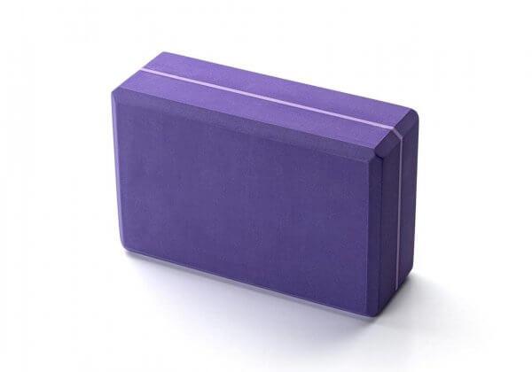 Кирпич для йоги Kurma Striped фиолетовый.