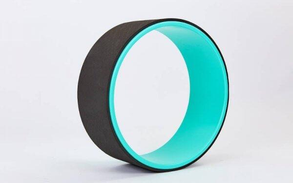 Колесо для йоги Yoga Wheel черно-зелёное.