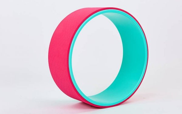 Колесо для йоги Yoga Wheel розовое.
