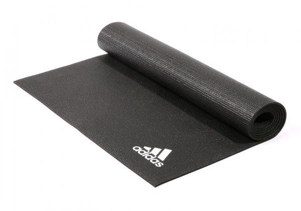Коврик для йоги Adidas 4 мм чёрный.