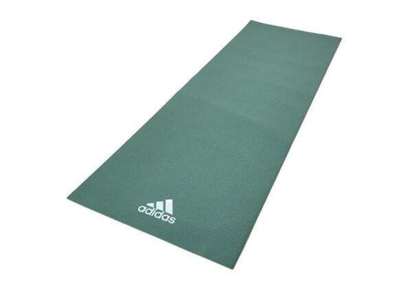 Коврик для йоги Adidas 4 мм зелёный.