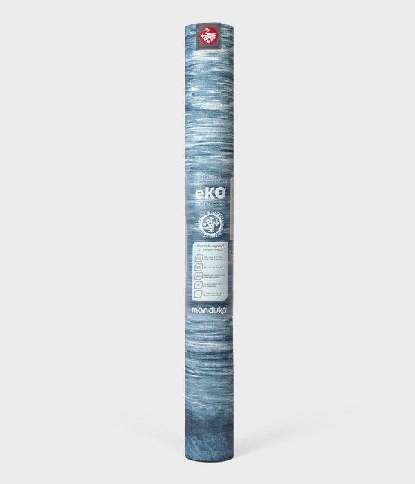 Коврик для йоги eKO SuperLite Mat Ebb Marbled (blue) Manduka.