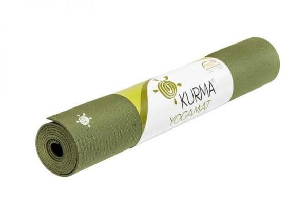Коврик для йоги Grip зелёный.