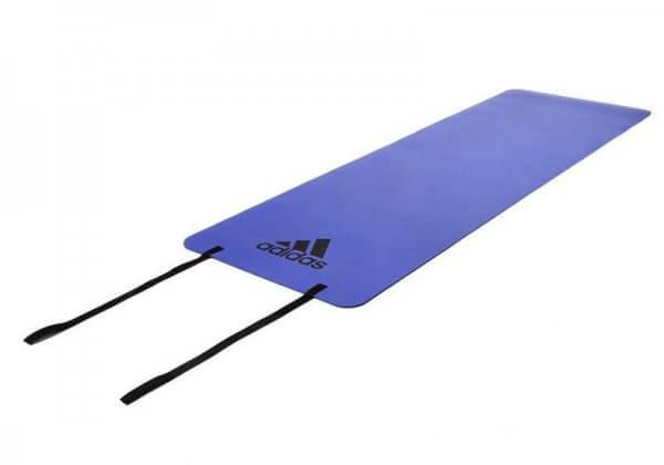 Коврик для йоги и фитнеса Adidas 6 мм синий.