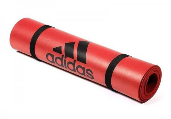 Коврик для йоги и фитнеса Adidas 6 мм красное.