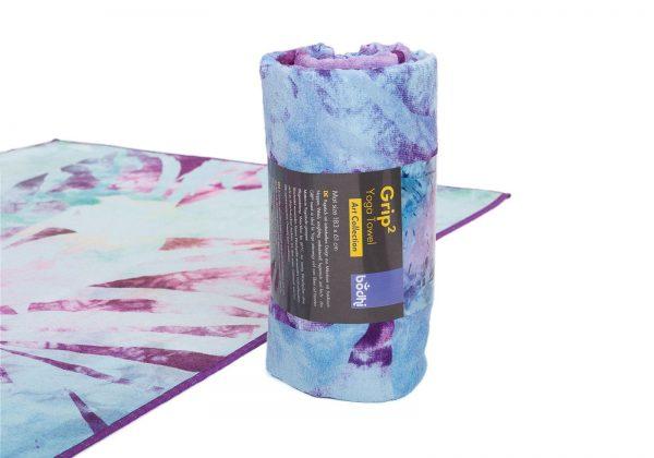 Мягкое йога-полотенце Arctic Leaves от Bodhi.