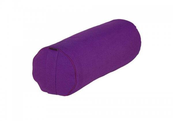 Валик для йоги фиолетовый.