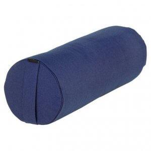 Валик для йоги BASIC синий.