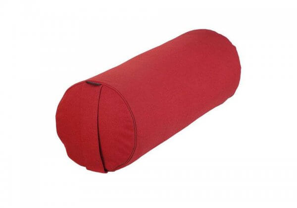 Валик для йоги BASIC красный.